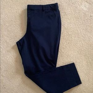 Plus size navy trousers